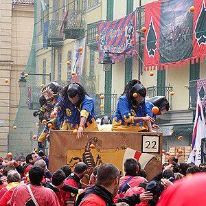 2. Carnaval d'Ivrée (Ivrea), Italie