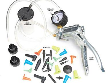 Kit pour test de pression, pompe à vide, purgeur...