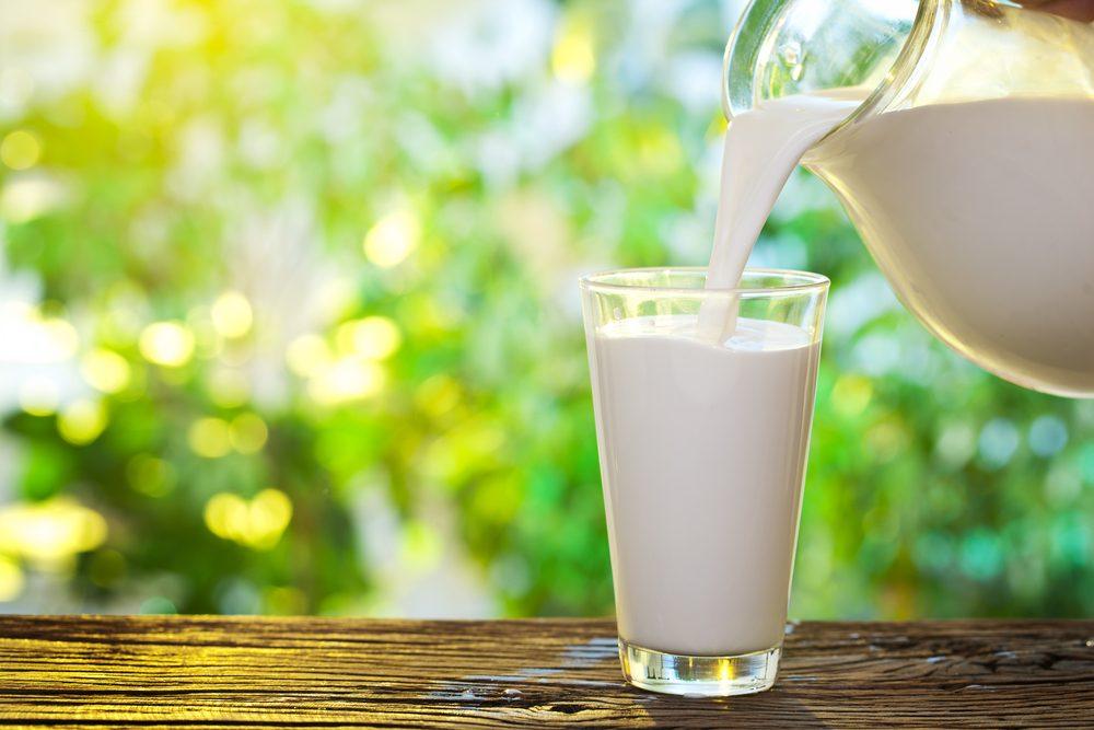Source de protéines : le lait.