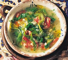 8. Soupe aux légumes et au chorizo