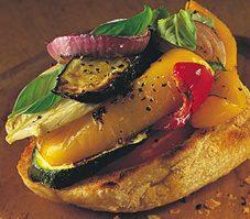 4. Bruschetta de légumes grillés