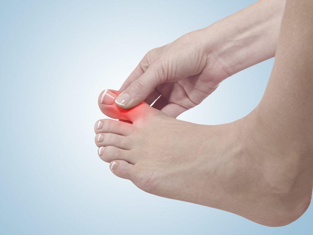 maladies des pieds humains