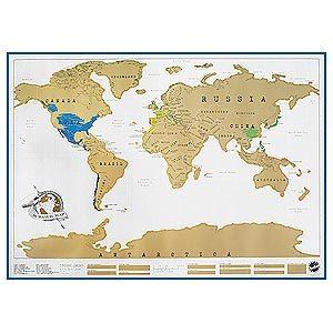 Carte du monde à rayer