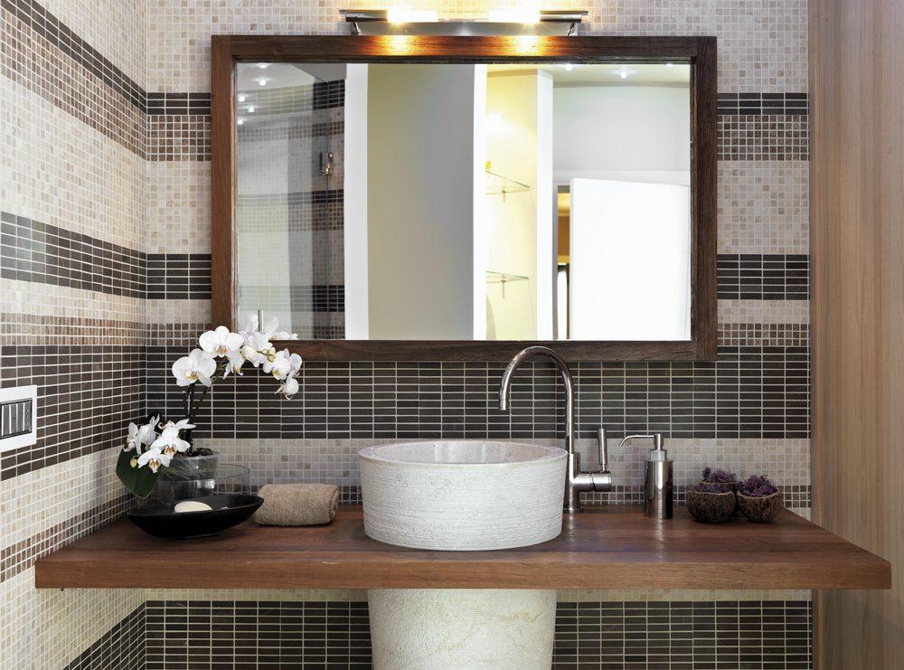 Salle de bain 30 id es pour la r am nager petit prix - Miroir salle de bain maison du monde ...