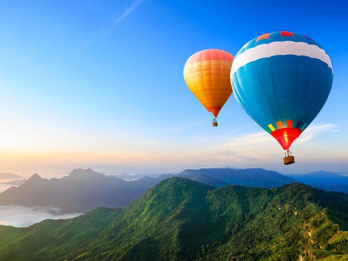 Le selfie exaltant: une envolée en montgolfière