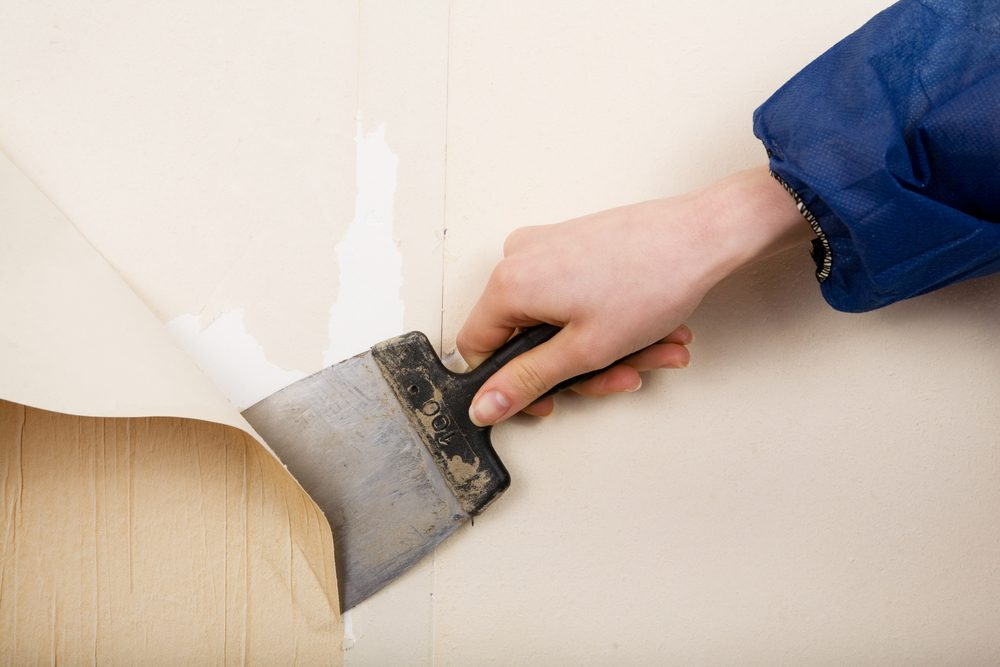 1. Beaucoup de papiers peints sont «pelables» et déjà faciles à enlever