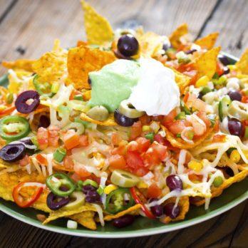 Nachos santé à la dinde et au chili