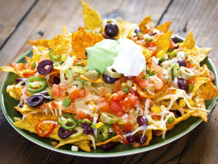 Une recette de nachos à la viande et haricots noirs