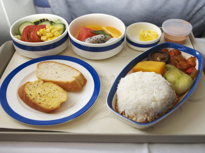 Les pilotes consomment souvent des repas différents