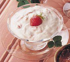 Nuages vanillés aux fraises