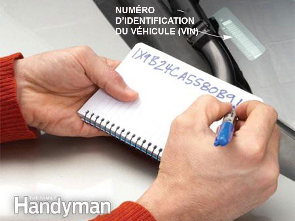 Identification de votre véhicule