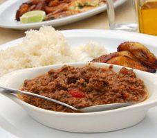 Picadillo et riz cargo