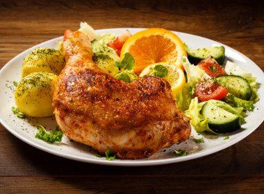 Pilons de poulet citron-aneth et pommes de terre