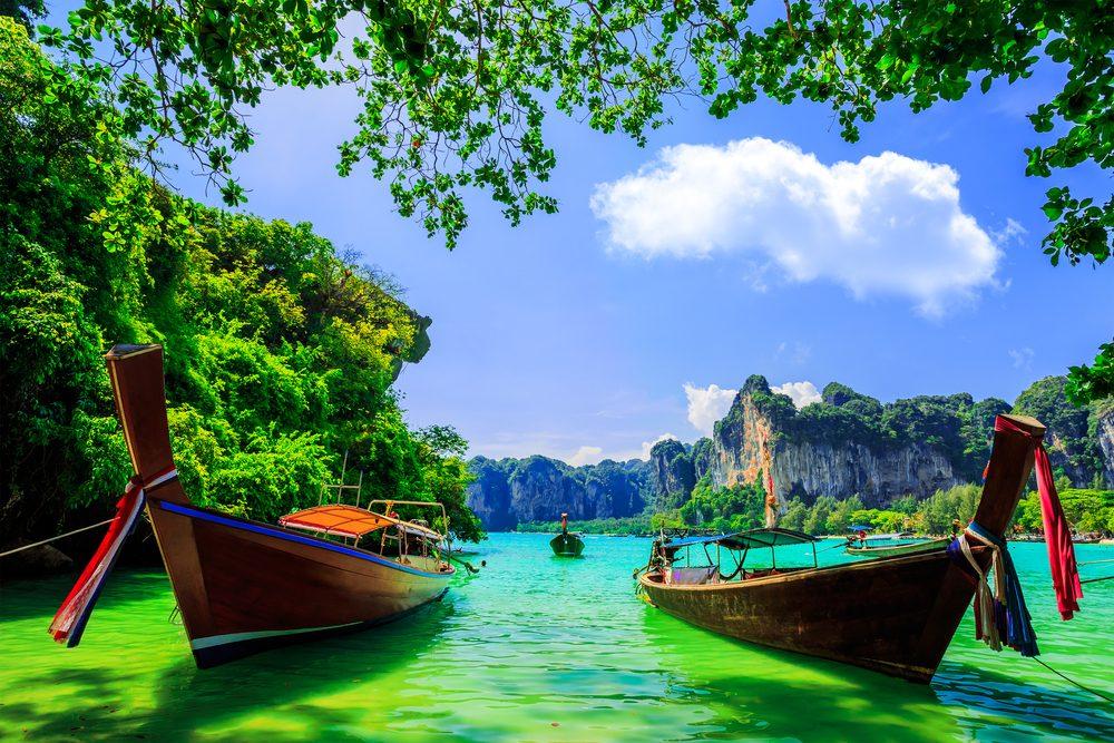 4. La baie de Railay en Thaïlande