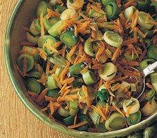Poireaux et carottes sautés