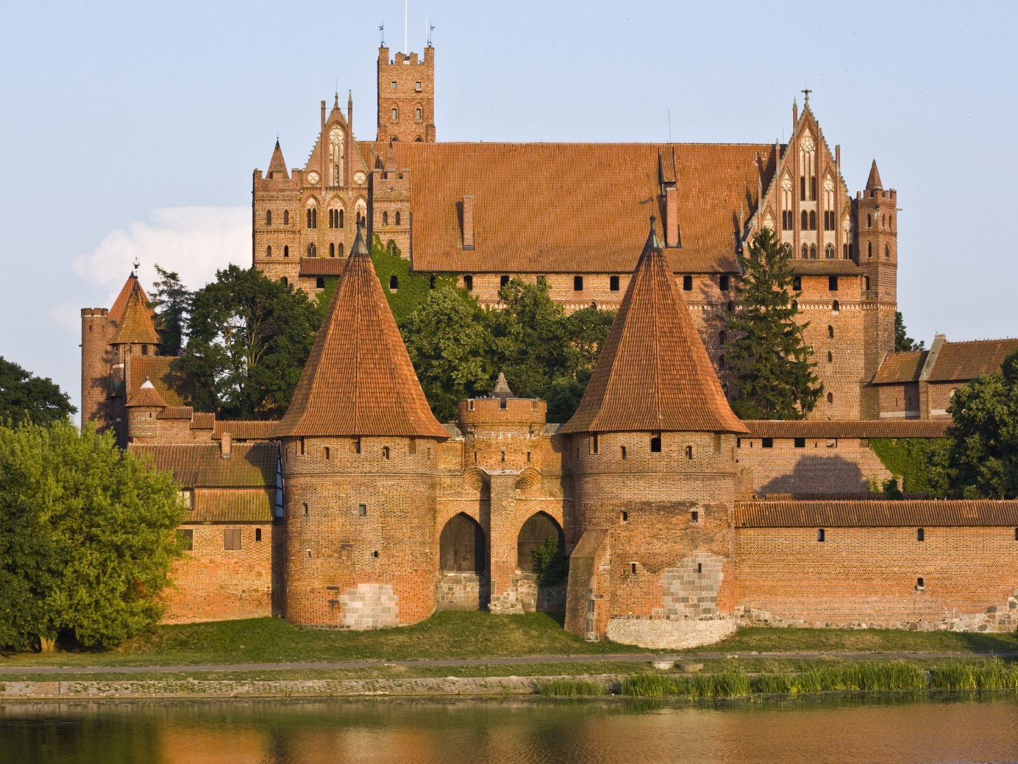 En Pologne, Malbork, la forteresse de Marienbourg.