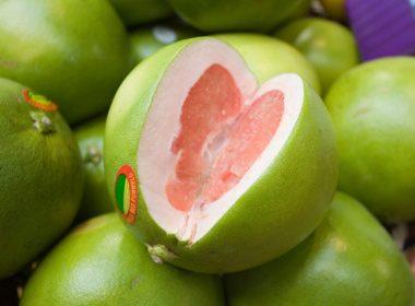 Le pomélo : remplit de vitamine C ( l'ennemi du rhume et de la grippe)
