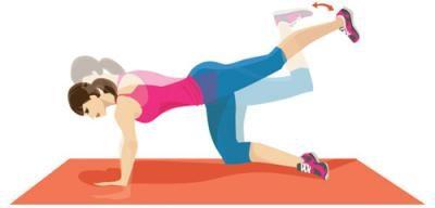 La pompe et l'extension des hanches