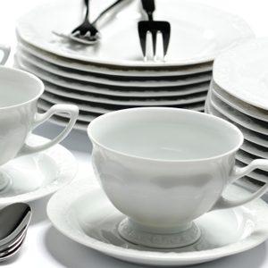4. Faites étinceler la porcelaine blanche