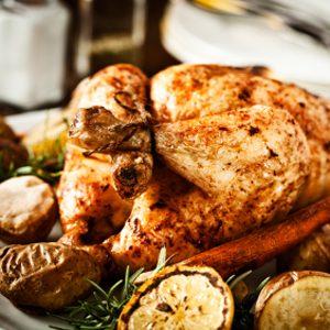 3 à 5 convives: poulet de Cornouailles
