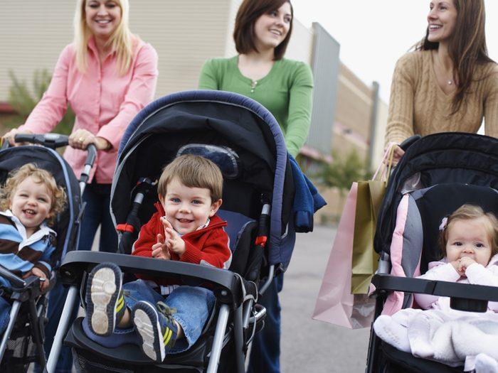 Poussette adaptable au siège d'auto (dès la naissance)