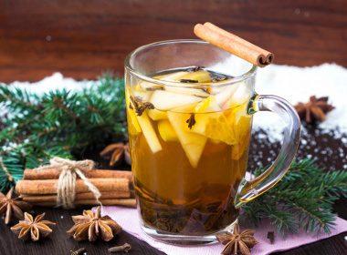 Punch chaud à l'ananas et au gingembre