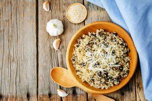 Recette facile de risotto de quinoa aux champignons