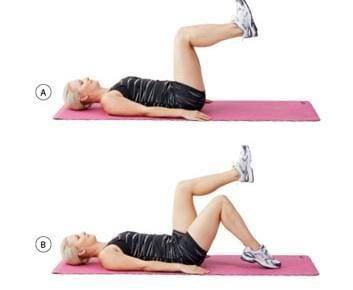 Première série d'exercices pour maigrir (muscles fessiers)