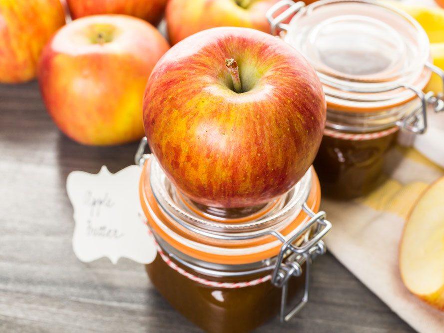 Beurre de pommes et d'arachide