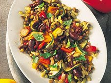 Recette de salade chaude aux légumes grillés
