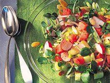 Recette de salade de pastèques, concombres et radis