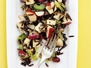 Recette de salade de pomme et riz sauvage