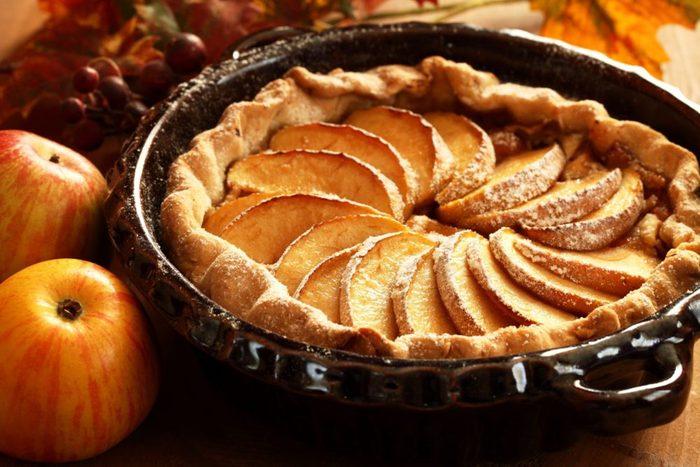 Recette de tarte aux pommes.