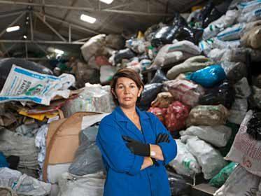 La ramasseuse de déchets