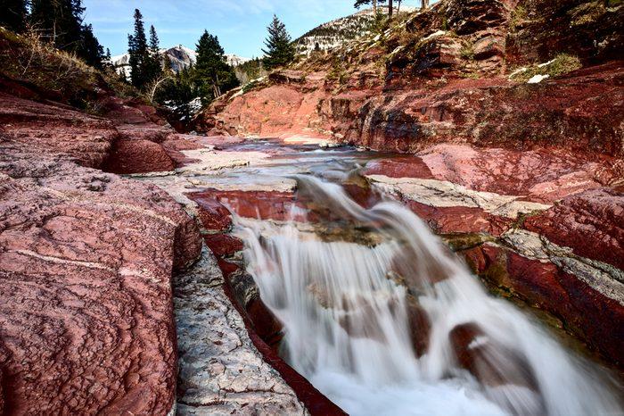 Canyon de Red Rock - Parc National des lacs de  Waterton