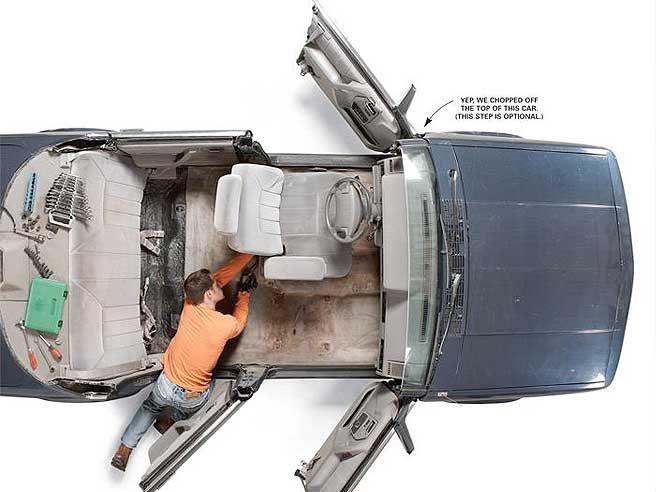 Enlever les sièges d'automobile afin d'installer votre nouveau tapis