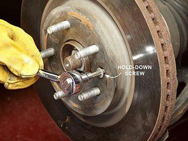 Enlever la vis de maintien du rotor