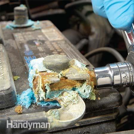 Le problème: la corrosion des bornes de batterie