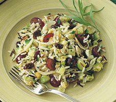 Salade de riz sauvage au fenouil