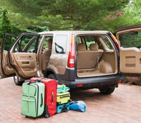 7. Évitez de charger votre voiture la veille lorsque vous partez en séjour