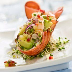 5. Salade d'avocat, de crevettes et tomates
