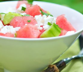 6. Salade de melon et de concombre