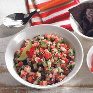 4. Ceviche d'espadon salsa au concombre