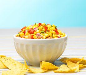 1. Salsa de poivrons et maïs