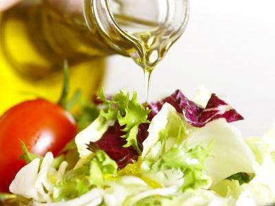 1. Pour une salade minceur, utilisez une sauce à base d'huile.