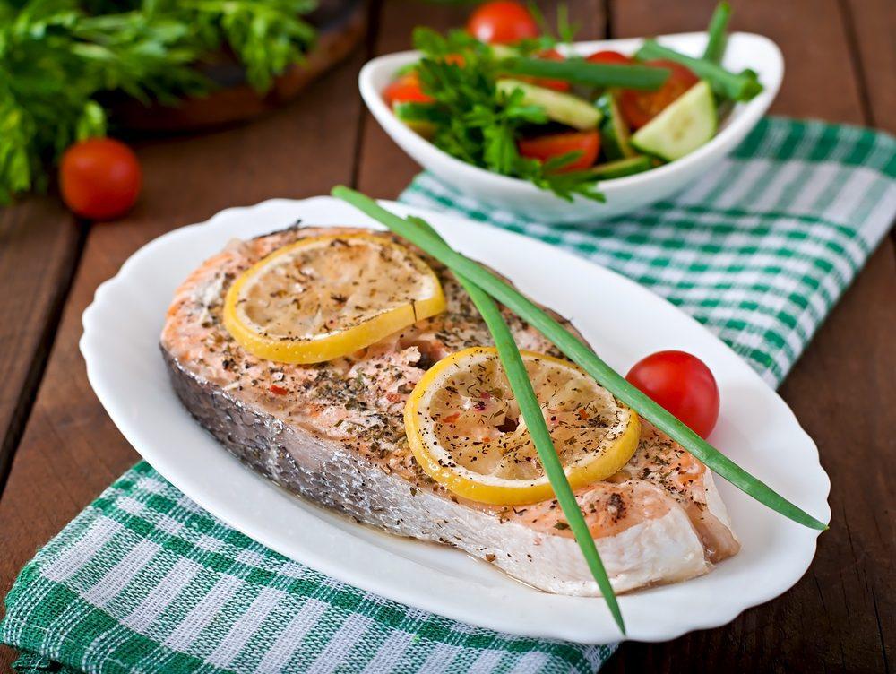 Saumon rôti aux fines herbes et citron