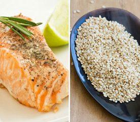 6. Pour atténuer les symptômes du SPM, combinez saumon et graines de sésame
