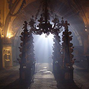 3. L'ossuaire de Sedlec, en République tchèque