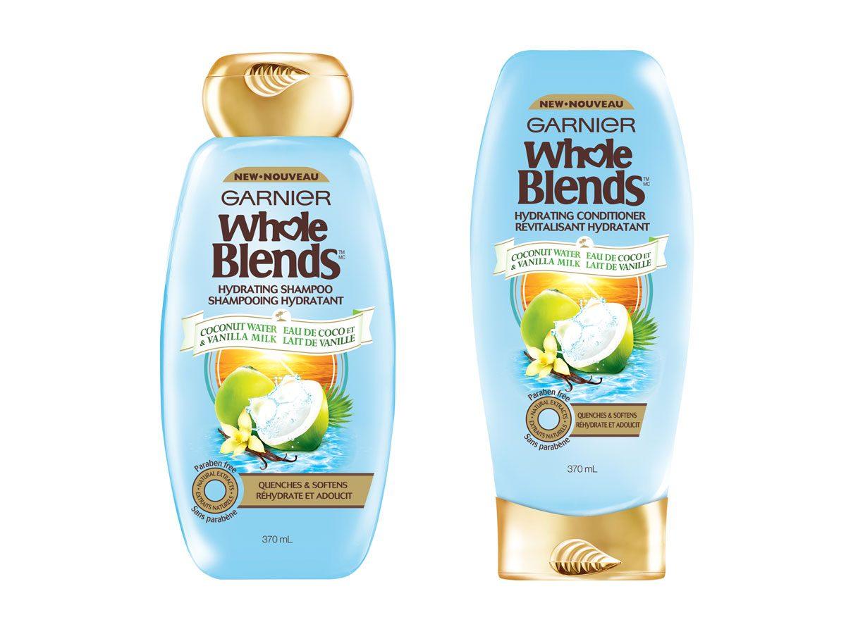 Shampoing et revitalisant à l'eau de coco et au lait de vanille - Whole Blends de Garnier