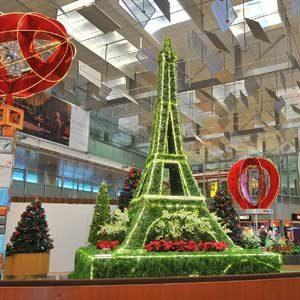 4. L'aéroport Changi, Singapour